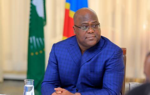 Le chef de l'État Félix Antoine Tshisekedi Tshilombo